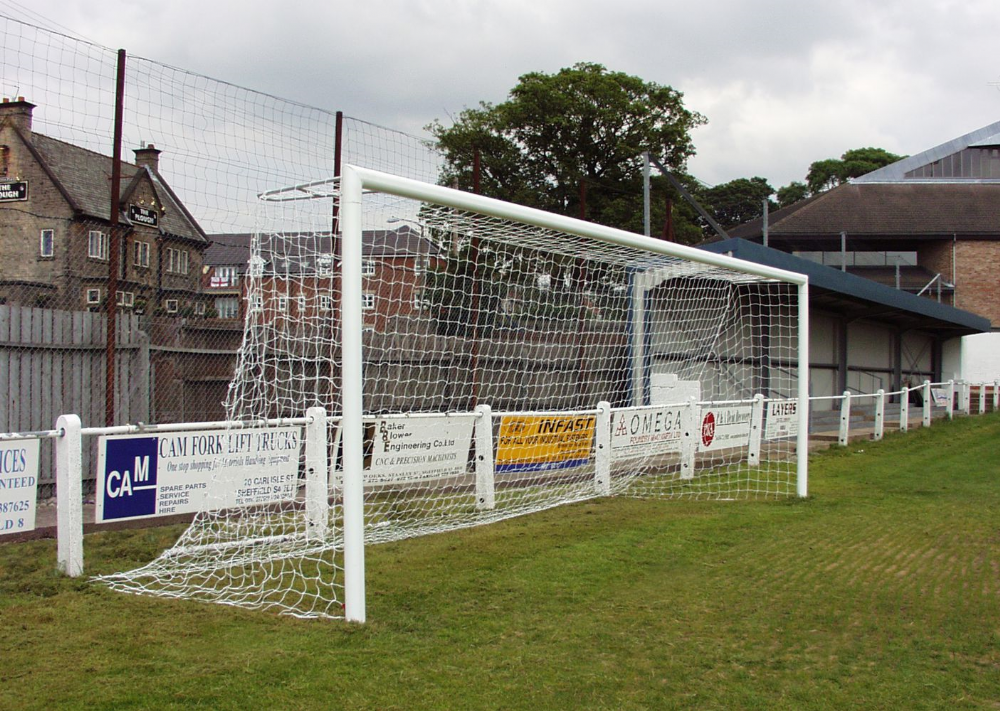 FULL SIZE ALUMINIUM GOAL POST - FIXED POSITION - 24 X 8